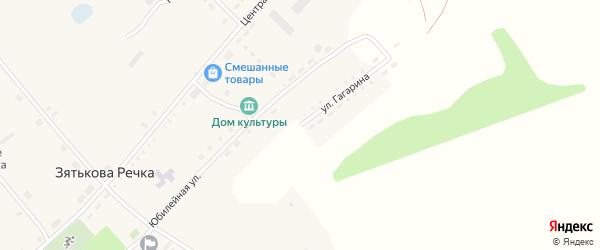 Улица Гагарина на карте села Зятьковой Речки с номерами домов