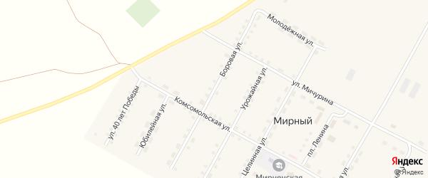 Боровая улица на карте Мирного поселка с номерами домов
