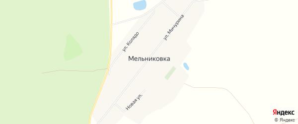 Карта поселка Мельниковки в Алтайском крае с улицами и номерами домов