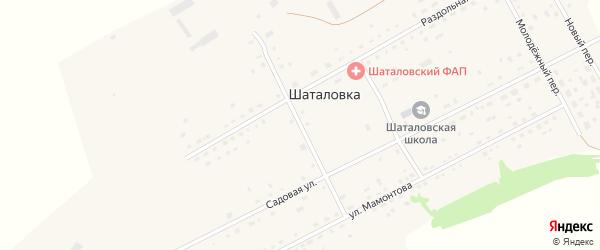 Западный переулок на карте села Шаталовки с номерами домов