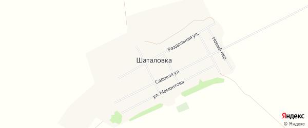 Карта села Шаталовки в Алтайском крае с улицами и номерами домов