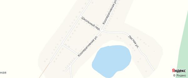 Кооперативная улица на карте села Шадрухи с номерами домов