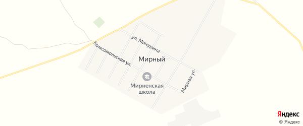 Карта Мирного поселка в Алтайском крае с улицами и номерами домов