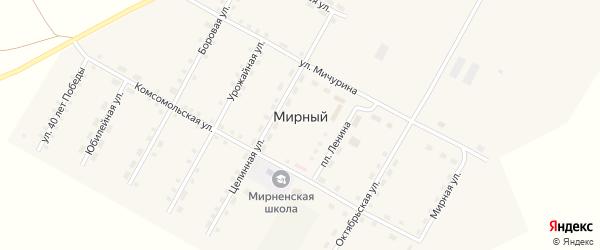 Сосновая улица на карте Мирного поселка с номерами домов