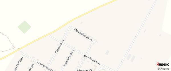 Молодежная улица на карте Мирного поселка с номерами домов