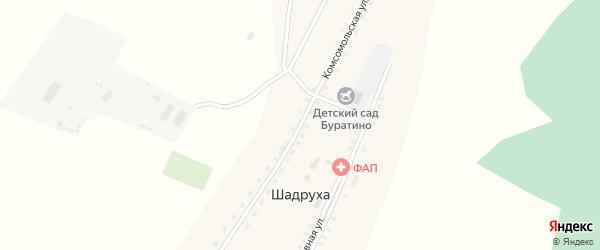 Комсомольская улица на карте села Шадрухи с номерами домов