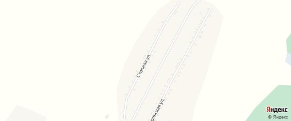 Степная улица на карте села Шадрухи с номерами домов