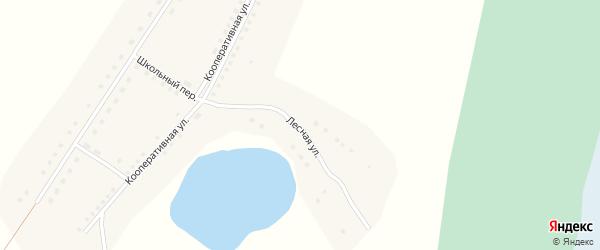 Лесная улица на карте села Шадрухи с номерами домов