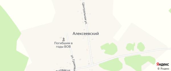 Центральная улица на карте Алексеевского поселка с номерами домов