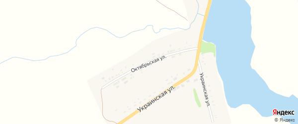 Октябрьская улица на карте села Верх-Суетки с номерами домов