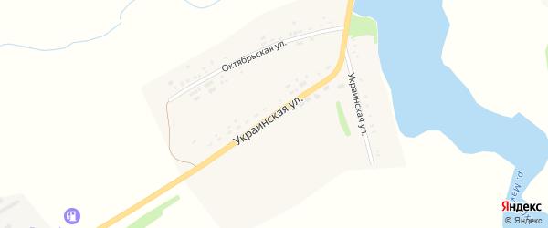 Украинская улица на карте села Верх-Суетки с номерами домов