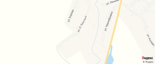 Улица Л.Толстого на карте села Верх-Суетки с номерами домов