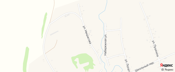 Улица Некрасова на карте села Верх-Суетки с номерами домов