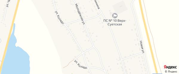 Молодежная улица на карте села Верх-Суетки с номерами домов