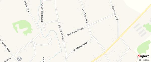 Школьный переулок на карте села Верх-Суетки с номерами домов
