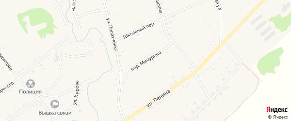 Переулок Мичурина на карте села Верх-Суетки с номерами домов