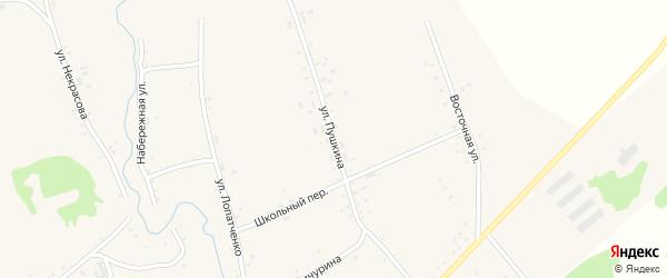 Улица Пушкина на карте села Верх-Суетки с номерами домов
