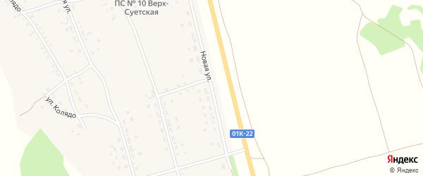 Новая улица на карте села Верх-Суетки с номерами домов