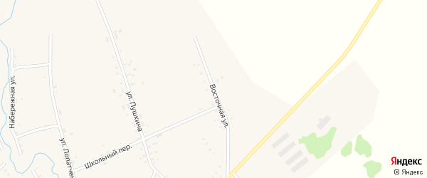Восточная улица на карте села Верх-Суетки с номерами домов