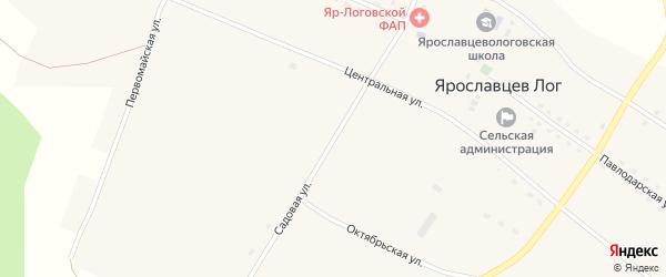 Садовая улица на карте села Ярославцева Лога с номерами домов