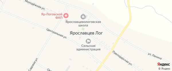 Октябрьская улица на карте села Ярославцева Лога с номерами домов