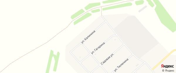 Улица Калинина на карте Березовского поселка с номерами домов