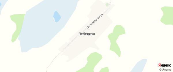 Карта поселка Лебедихи в Алтайском крае с улицами и номерами домов