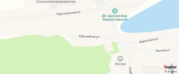 Юбилейная улица на карте села Бора-Форпоста с номерами домов