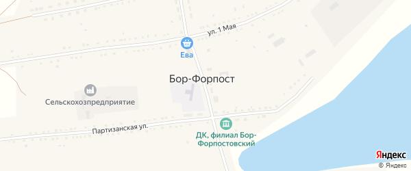 Улица Сидорова на карте села Бора-Форпоста с номерами домов