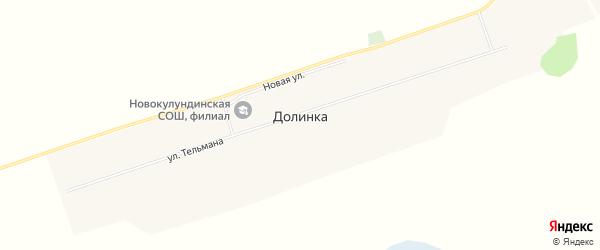 Карта села Долинки в Алтайском крае с улицами и номерами домов