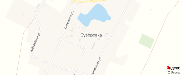 Юбилейная улица на карте села Суворовки с номерами домов