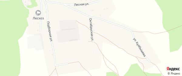Октябрьская улица на карте села Бора-Форпоста с номерами домов