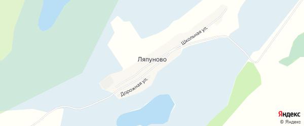 Карта села Ляпуново в Алтайском крае с улицами и номерами домов