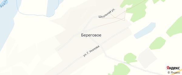 Карта Берегового села в Алтайском крае с улицами и номерами домов