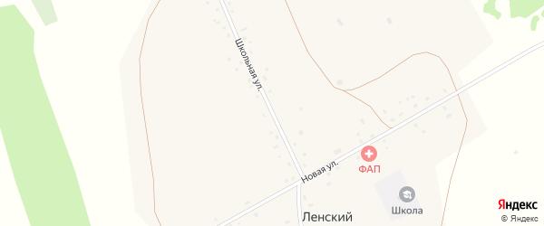 Школьная улица на карте Ленского поселка с номерами домов