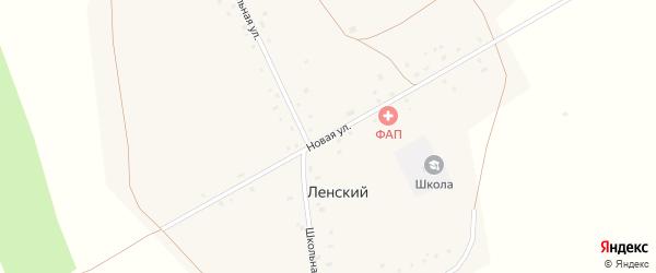 Новая улица на карте Ленского поселка с номерами домов