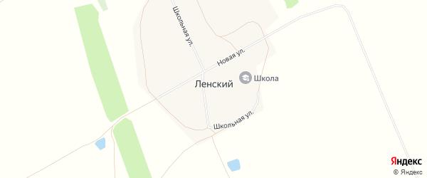 Карта Ленского поселка в Алтайском крае с улицами и номерами домов
