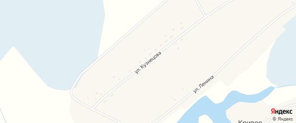 Улица Кузнецова на карте Кривого села с номерами домов