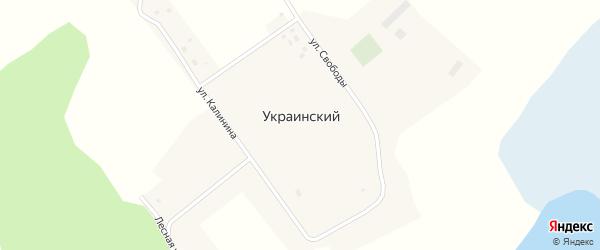 Лесная улица на карте Украинского поселка с номерами домов