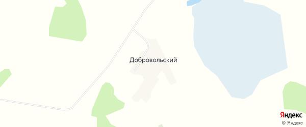 Карта Добровольского поселка в Алтайском крае с улицами и номерами домов
