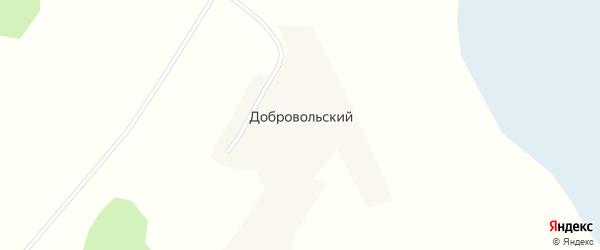 Зеленая улица на карте Добровольского поселка с номерами домов