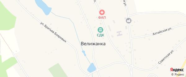 Улица Ленина на карте села Велижанки с номерами домов