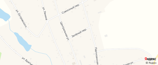 Зеленый переулок на карте села Велижанки с номерами домов