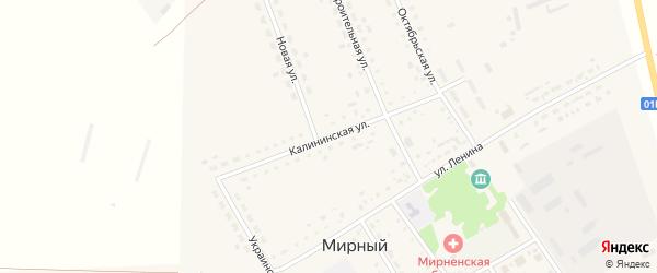 Калининская улица на карте Мирного поселка с номерами домов