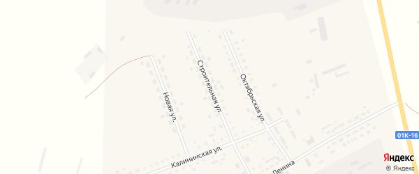 Строительная улица на карте Мирного поселка с номерами домов