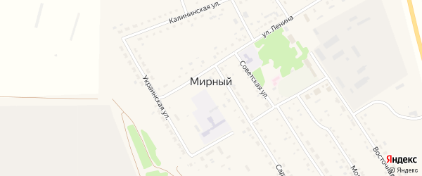 Жилплощадка 1-я улица на карте Мирного поселка с номерами домов