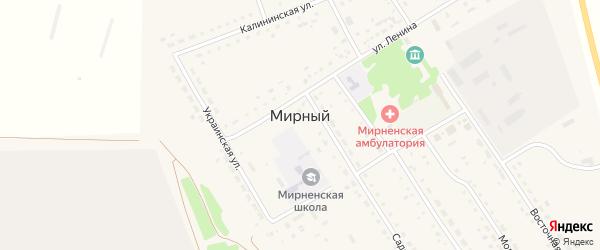 Мелиоративная улица на карте Мирного поселка с номерами домов