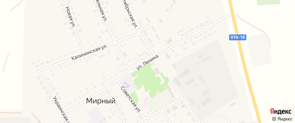 Улица Ленина на карте Мирного поселка с номерами домов