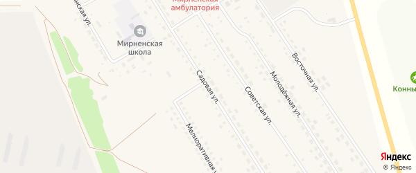 Садовая улица на карте Мирного поселка с номерами домов