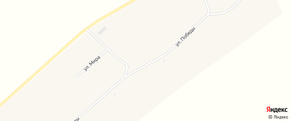 Улица Победы на карте поселка Новокулундинки с номерами домов